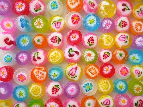 Pretty, colorful candies