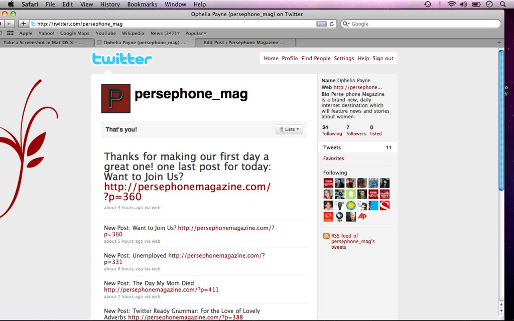 persephone magazine twitter page