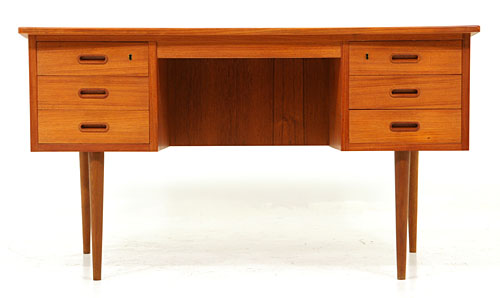 Danish modern teak writing desk
