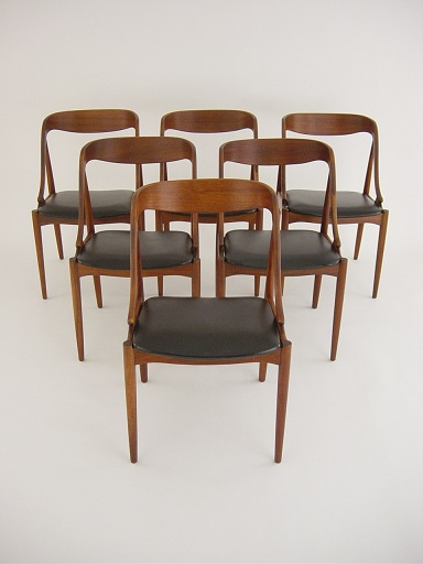 Eames era teak dining chairs
