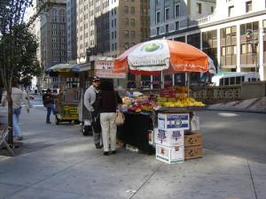 Produce Cart on the Street
