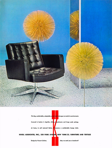 1963 Knoll furniture ad