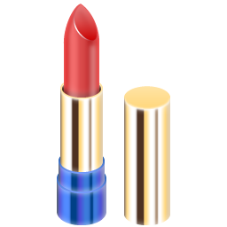 Tube of red lipstick