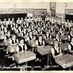 1962 photograph of a parochial school classroom