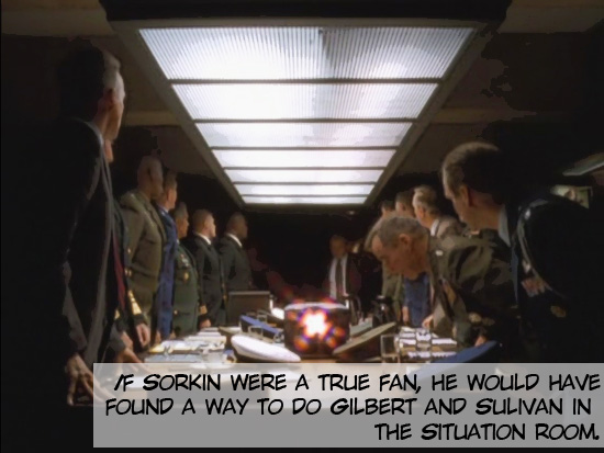 """Military men in the Situation Room on the 1999-2006 television drama The West Wing. Season 1, episode 3 """"A Proportional Response."""""""