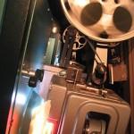 Running film projector