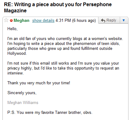 Gmail - RE- Writing a piece about you for Persephone Magazine - meghanlenora@gmail.com