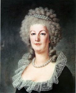 Painting of Marie Antoinette, circa 1791