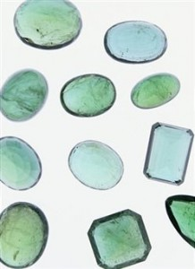 A collection of emerald stones