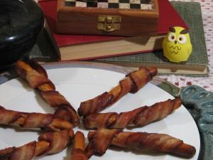 bacon wand close up