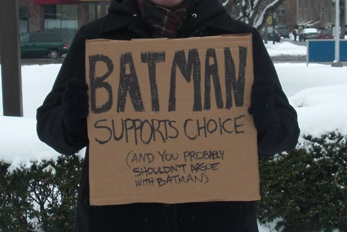 Batman supports choice