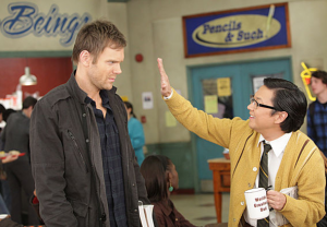 Chang gives Jeff a high five