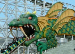 The Dragon Coaster in Rye. OH GOD THEY'RE BEING EATEN.
