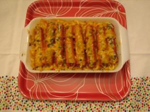 Stuffed Frankfurter Casserole