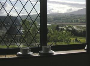 Two tea cups on a windowsill