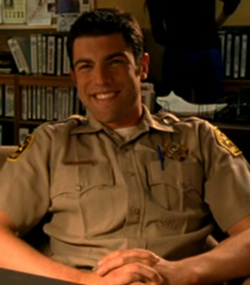 Deputy Leo on Veronica Mars - 20 year old white man with brown hair