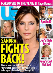 Us Weekly Cover with Sandra Bullock