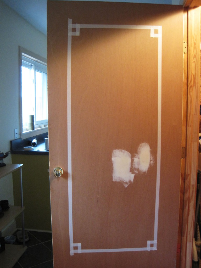 taped door