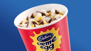 promotional image of Cadbury Creme Egg McFlurry in a fast food cup