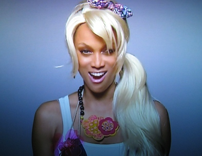 Tyra Banks in a skit.
