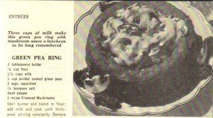 Image of Green Pea Ring from 300 Healthful Dairy Dishes (1955).