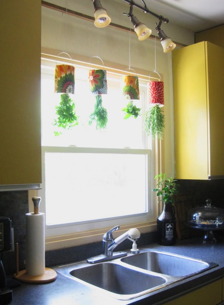 hanging herb gardening