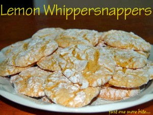 Plate of lemon cookies dusted with powdered sugar