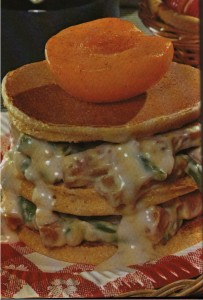 Ham-Pancake Shortcake Scan from Cookbook