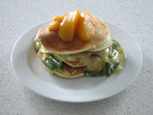 Ham-Pancake Shortcakes