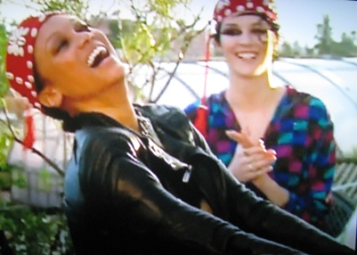 Tyra Banks dances on an episode of America's Next Top Model.