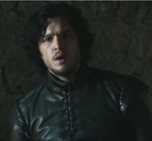 Jon Snow looking astonished