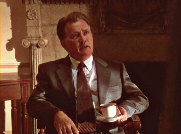 Screenshot from the television series The West Wing, featuring Martin Sheen as President Josiah Bartlet.