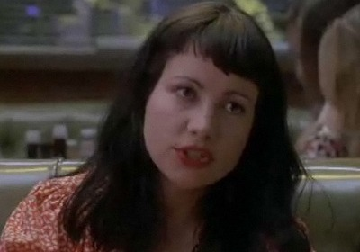 Vickie Miner from Reality Bites, with her mouth open