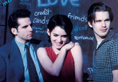 Ben Stiller, Winona Ryder, and Ethan Hawke from Reality Bites