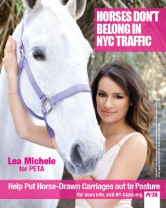 Lea Michele of Glee Posing for PETA