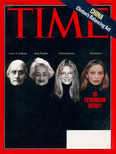 """Time Magazine June 1998 cover """"Is Feminism Dead?"""""""