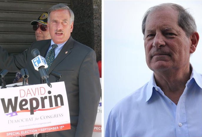 photos of david weprin and bob turner