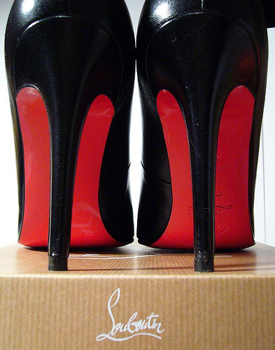 Image of a pair of red Christian Louboutin shoes