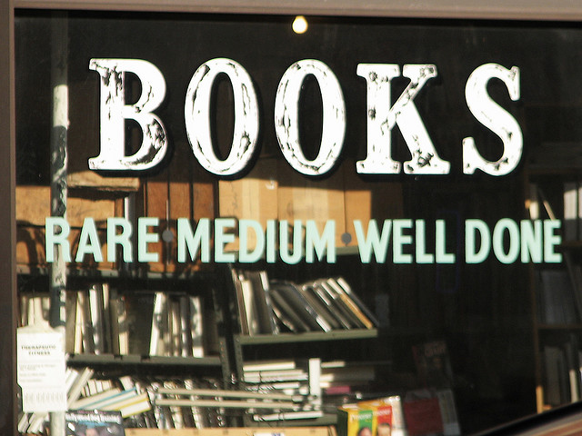 Image of bookstore sign