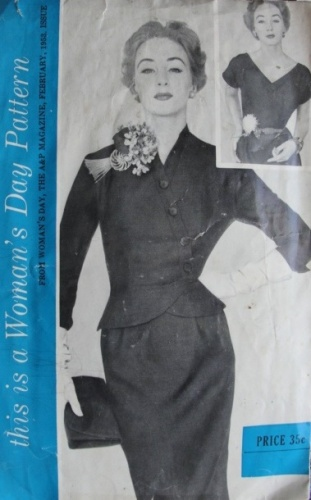 1950s vintage suit pattern, courtesy of So Vintage Patterns.