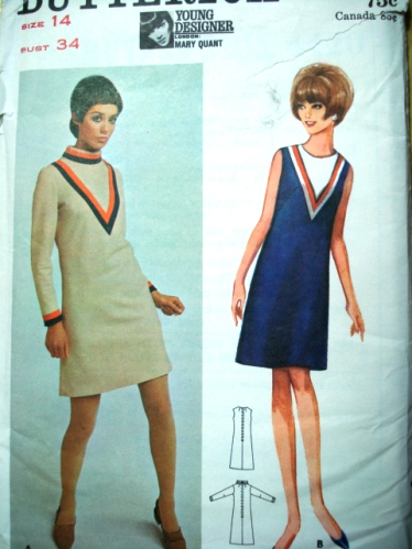 Mary Quant 1960s Mod Dress Pattern Courtesy Of So Vintage Patterns