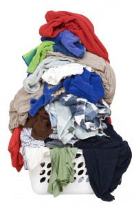 A pile of laundry growing slowly out of control.