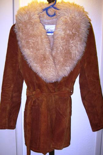 Vintage 1970s suede car coat (from my collection).