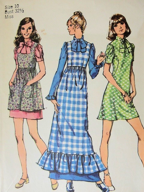 70s jumper/pinafore, pattern courtesy of So Vintage Patterns.