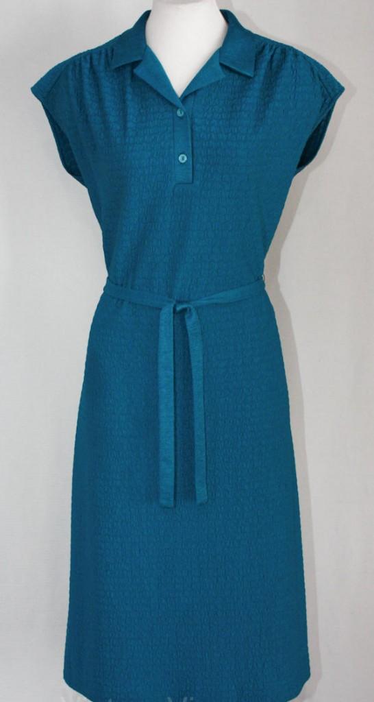 70s knit secretary dress, courtesy of Vintage Vixen.