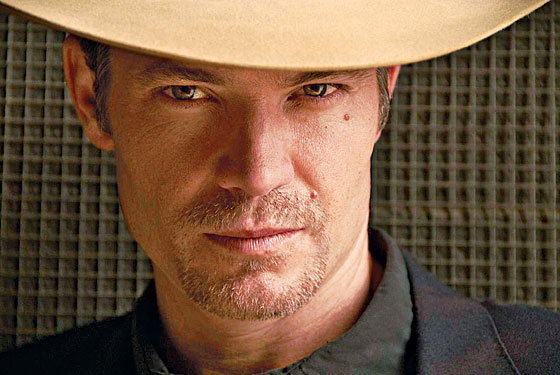 Actor Timothy Olyphant, looking like he wants to tell us all his secrets.