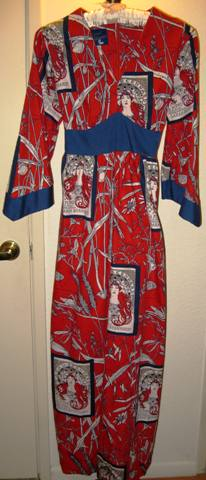Sears Great Entertainers Sarah Bernhardt Maxi Dress