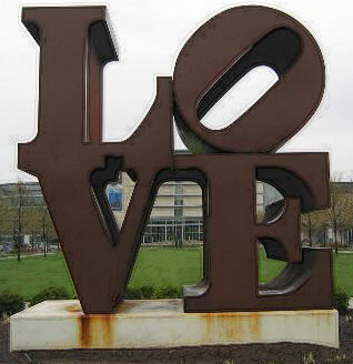 LOVE by Robert Indiana, Indianapolis Museum of Art