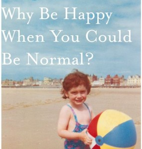 Close-up of cover image showing Jeanette as a little girl in a swimsuit, on a beach, holding a large multicolour beach ball.