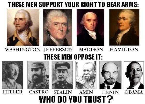 These people support your right to bear arms.  These people don't.  Who do you trust?